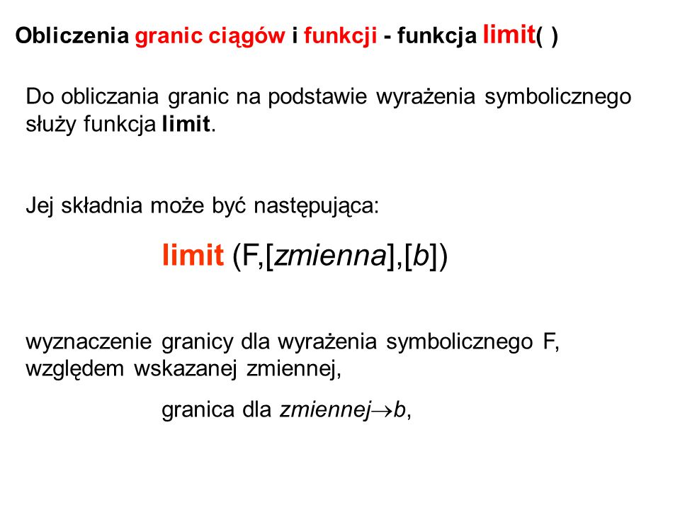 limit (F,[zmienna],[b])